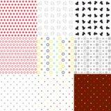 Reeks naadloze texturen diverse types Stock Afbeelding