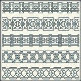 Reeks naadloze uitstekende grenzen in de vorm van Keltisch ornament Royalty-vrije Stock Fotografie