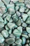Reeks natuurlijke minerale halfedelstenen Royalty-vrije Stock Fotografie