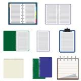 Reeks notitieboekjes. Stock Afbeelding