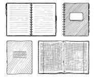Reeks notitieboekjes Royalty-vrije Stock Afbeelding