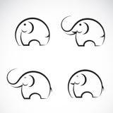 Reeks olifantspictogrammen Stock Afbeelding