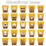 Reeks onderwijspictogrammen Stock Afbeeldingen