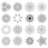 Reeks ontwerpelementen, bloemen royalty-vrije illustratie