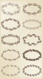 Reeks ontwerpelementen: uitstekende bloemenkaders Royalty-vrije Stock Afbeelding