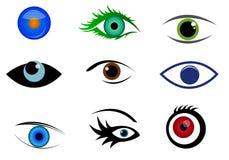 De emblemen en de pictogrammen van het oog Royalty-vrije Stock Afbeelding