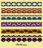 Reeks ornamenten in Aziatische stijl Royalty-vrije Stock Afbeeldingen
