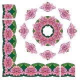 Reeks ornamenten - cirkel en rechthoekige kaders Royalty-vrije Stock Afbeeldingen