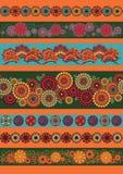 Reeks ornamenten van Japan Stock Foto's