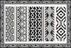 Reeks oude Amerikaanse Indische patronen Royalty-vrije Stock Fotografie