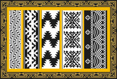 Reeks oude Amerikaanse Indische patronen Royalty-vrije Stock Afbeeldingen