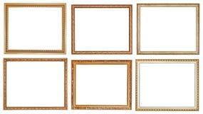 Reeks oude klassieke houten omlijstingen stock fotografie