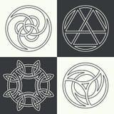 Reeks oude symbolen royalty-vrije illustratie