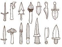 Reeks oude wapens Royalty-vrije Stock Fotografie