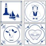 Nederlandse tegels royalty-vrije illustratie