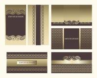 Reeks overladen frames. Royalty-vrije Stock Afbeelding