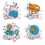 Reeks overzichtspictogrammen van Idee Stock Foto