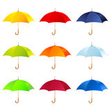 Reeks paraplu's royalty-vrije illustratie