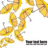 Reeks paraplu's op wit vector illustratie