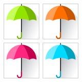 Reeks paraplu's Vector illustratie stock illustratie