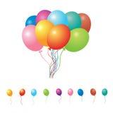 Reeks partijballons Royalty-vrije Stock Foto's