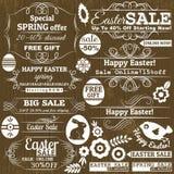 Reeks Pasen-etiketten van de verkoopaanbieding, vector Stock Afbeelding