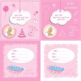 Pasgeboren douche 2 van de meisjesbaby royalty-vrije illustratie