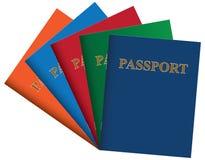 Reeks paspoorten royalty-vrije stock foto
