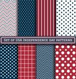 Reeks patronen van de de Onafhankelijkheidsdag van de V.S. Stock Foto