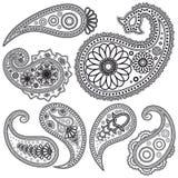 Reeks patronen van Paisley voor ontwerp. Royalty-vrije Stock Foto