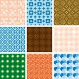 Reeks patronen - vector geometrische texturen Stock Afbeeldingen