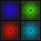 Reeks patronen voor gebrandschilderd glas stock illustratie