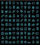 Reeks pictogrammen stock illustratie