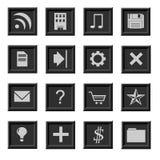 Reeks pictogrammen Royalty-vrije Stock Foto's