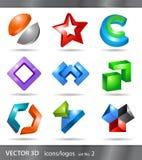 Reeks pictogrammen of emblemen Stock Afbeeldingen