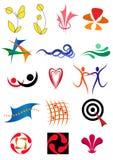 Reeks pictogrammen en ontwerpelementen Royalty-vrije Stock Foto's