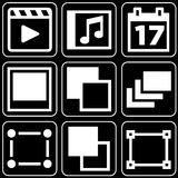Reeks pictogrammen (film, anderen) Royalty-vrije Stock Foto's