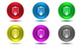 Reeks pictogrammen in kleur, illustratie, gegevensoverdracht Stock Fotografie