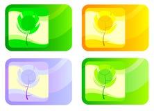 Reeks pictogrammen met de seizoenen Stock Fotografie