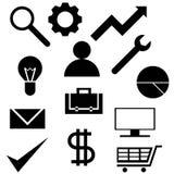 Reeks pictogrammen met het bedrijfsthema Royalty-vrije Stock Foto
