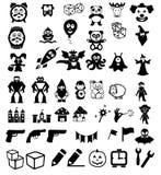 Reeks pictogrammen op het speelgoed van kinderen royalty-vrije illustratie