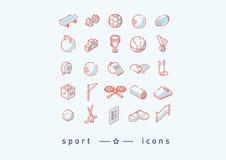 Reeks pictogrammen op sporten, sportenpunten Stock Fotografie