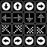 Reeks pictogrammen (pijl) Royalty-vrije Stock Afbeeldingen