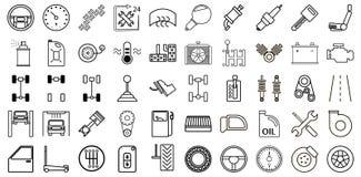 Reeks pictogrammen van de autodienst Royalty-vrije Stock Fotografie