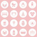 Reeks pictogrammen van de babyzorg Royalty-vrije Stock Fotografie