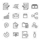 Reeks pictogrammen van de beheers dunne lijn Royalty-vrije Stock Foto's