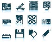 Reeks pictogrammen van de computerhardware Stock Fotografie