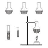 Reeks pictogrammen van de fles Royalty-vrije Stock Fotografie