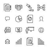 Reeks pictogrammen van de groepswerk dunne lijn Stock Foto's