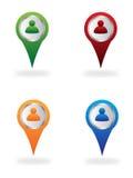 De plaatspictogrammen van de kaart Royalty-vrije Stock Afbeelding